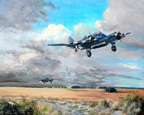 Painting of RAF Beaufighter