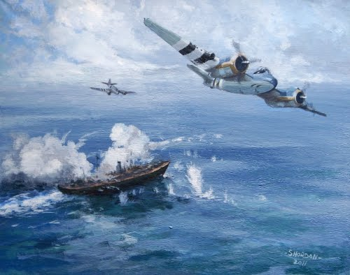 Painting of RAF 236 Squadron Beaufighter